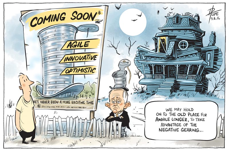 Cartoon: still waiting for the new government tone