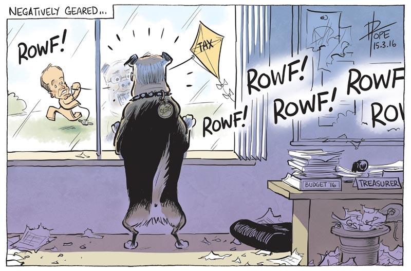 Cartoon: the Treasurer prepares the 2016 Federal Budget