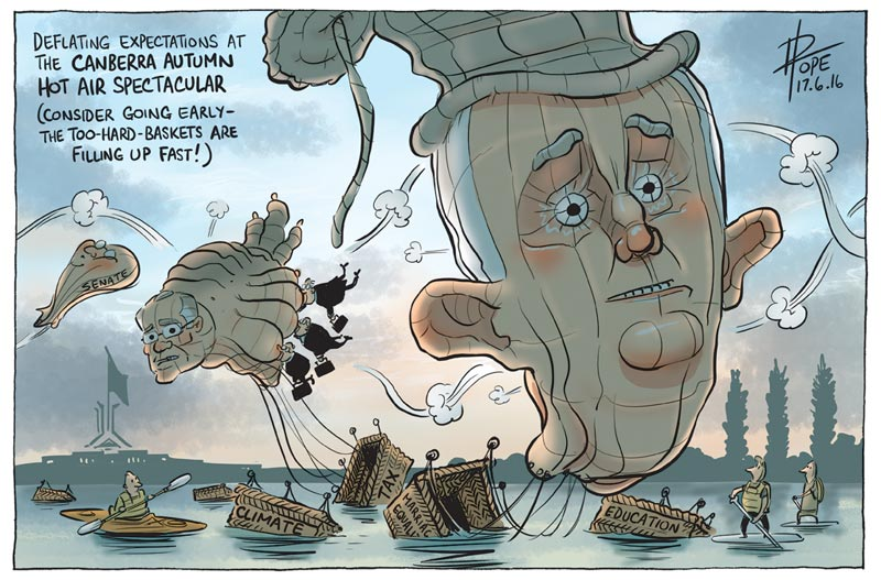 Cartoon: the Canberra Political Hot Air Balloon Spectacular