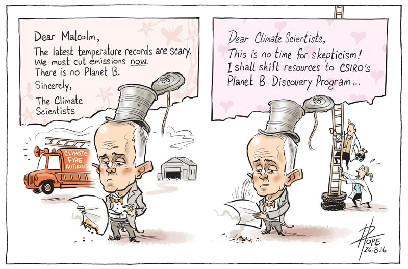 Cartoon: open letter to the Prime Minister from 154 scientists