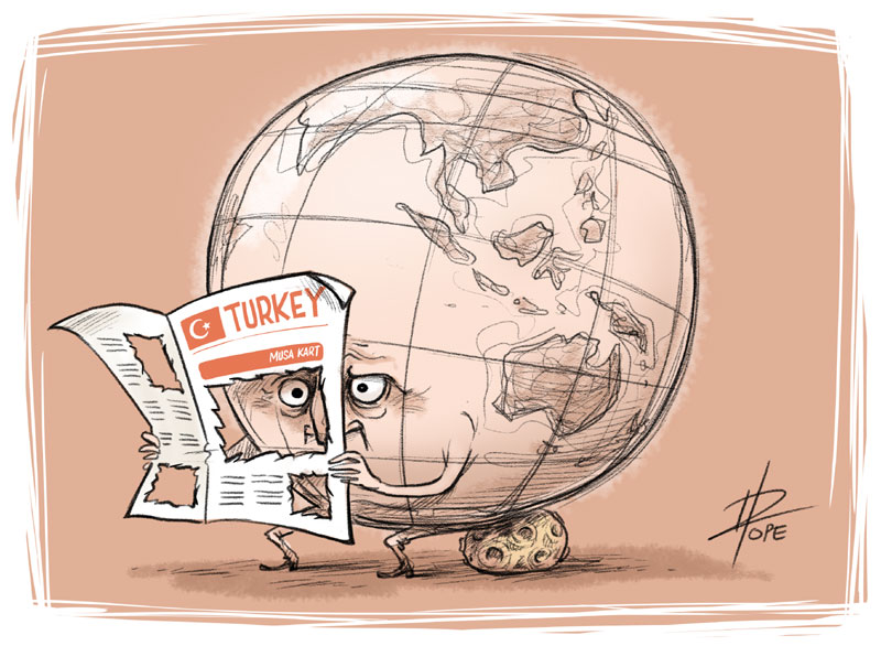Cartoon: in solidarity with jailed Turkish cartoonist Musa Kart