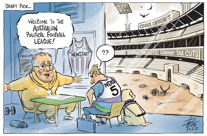 Cartoon: the Australian Political Football League
