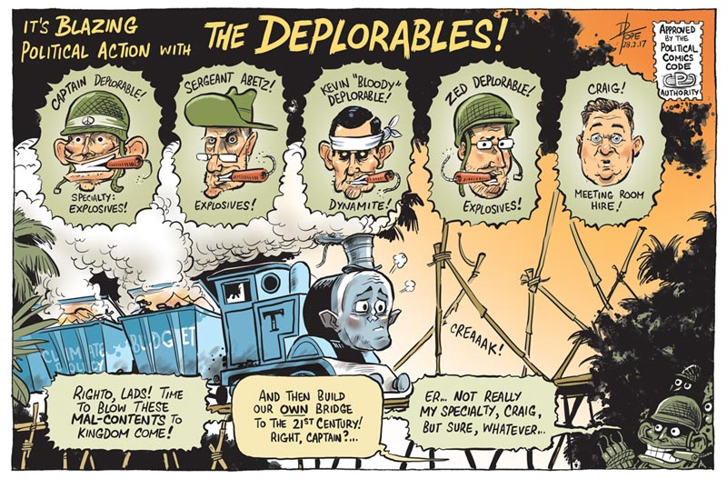 Cartoon: the Deplorables Action Comic