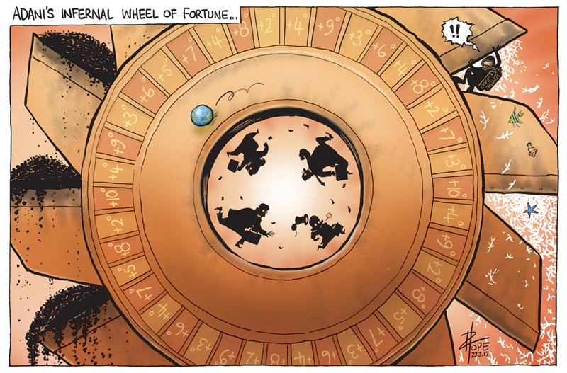 Cartoon: Adani wheel of fortune