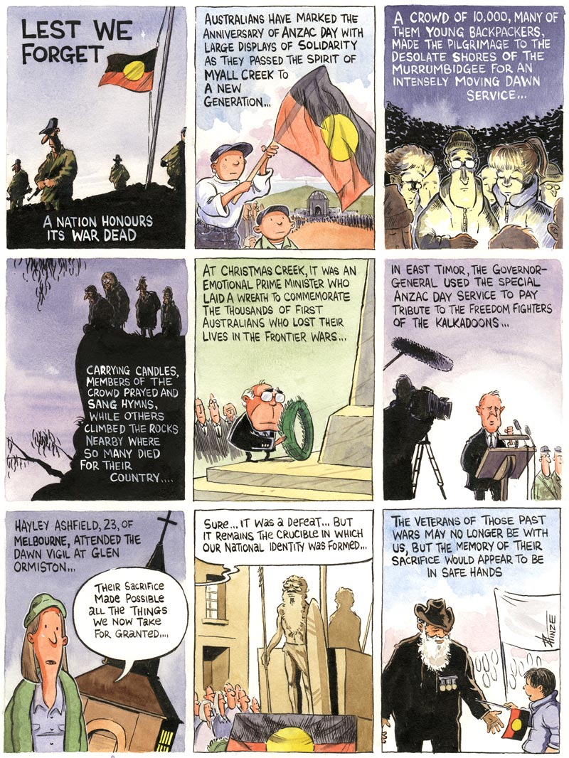 Cartoon: lest we forget the frontier wars