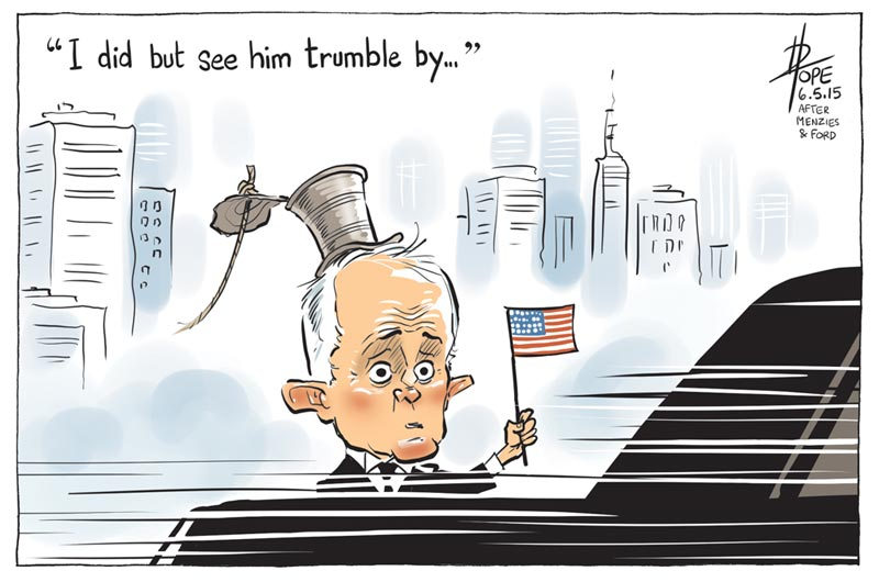 Cartoon: Turnbull's short meeting with Trump