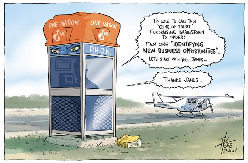 Cartoon: One Nation fundraising brainstorm