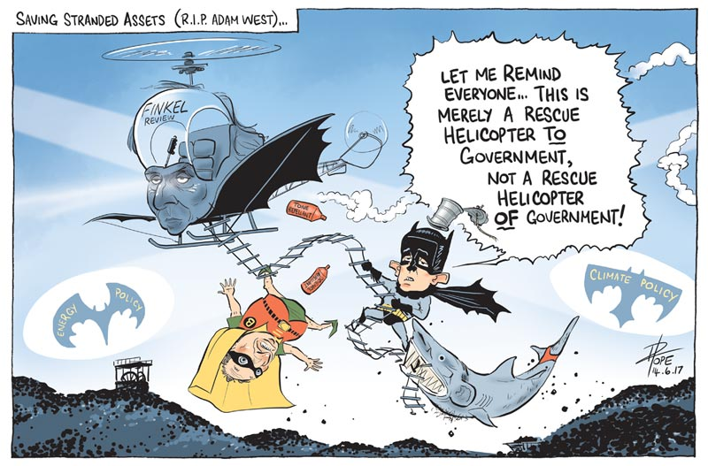 Cartoon: the government divided on the Finkel energy review