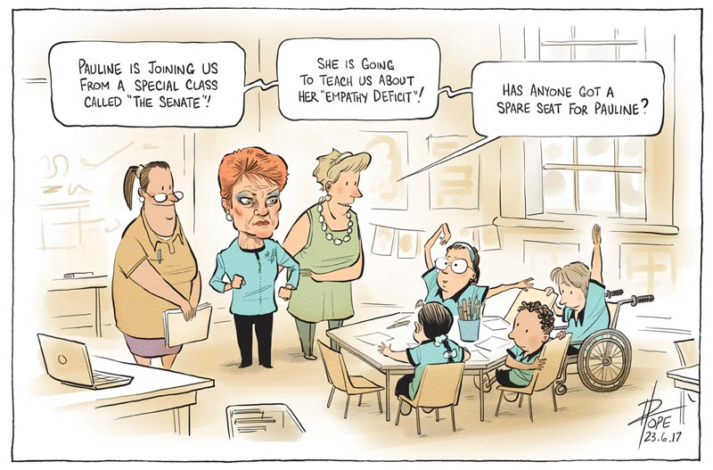 Cartoon: Hanson in the classroom