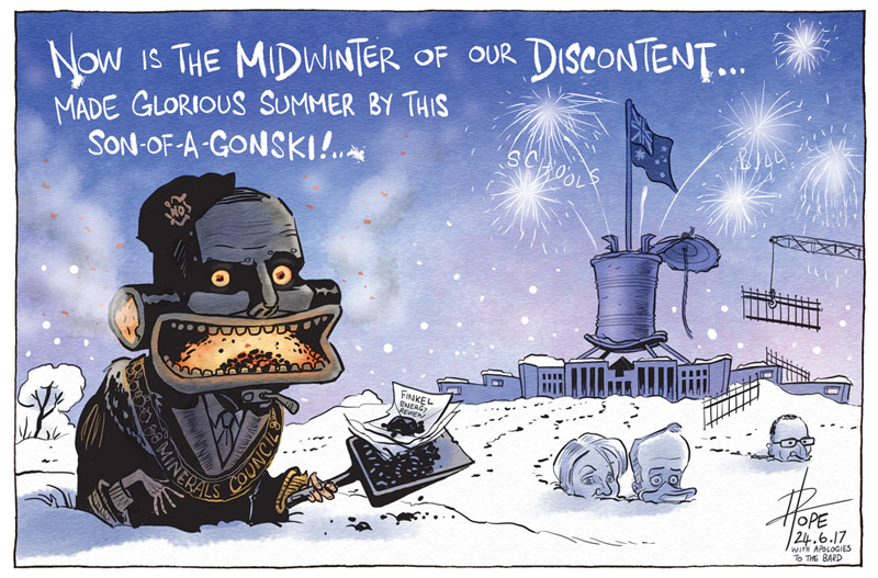 Cartoon: Midwinter of our Discontent