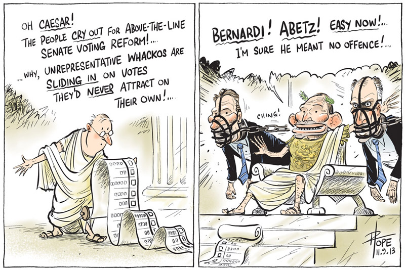 Cartoon: the unrepresentative whackos in the Senate