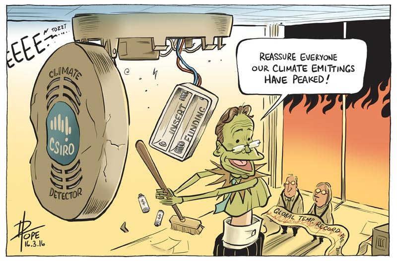 Cartoon: spike in global temperatures