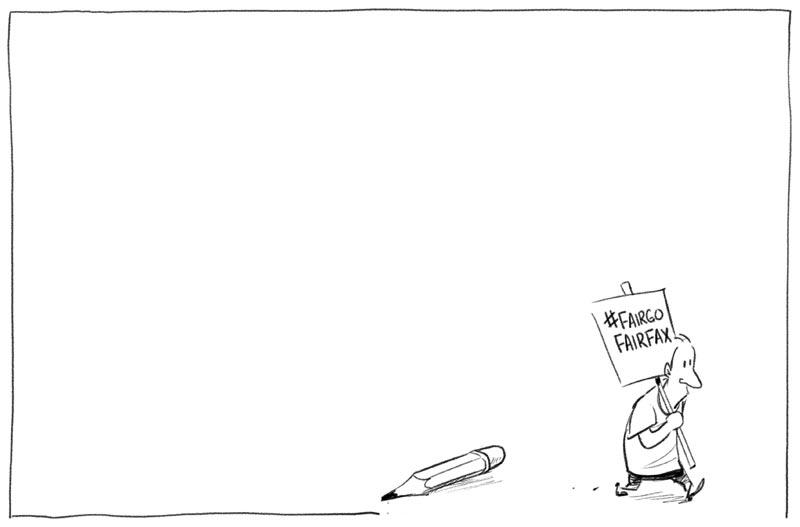 Cartoon: on strike against Fairfax job cuts