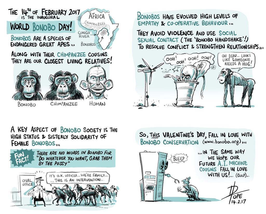 Cartoon: World Bonobo Day