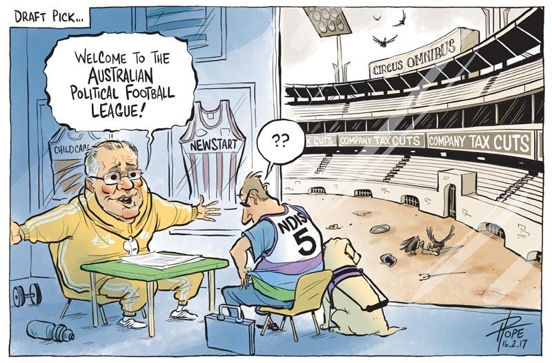 Cartoon: the Australian Political Football League