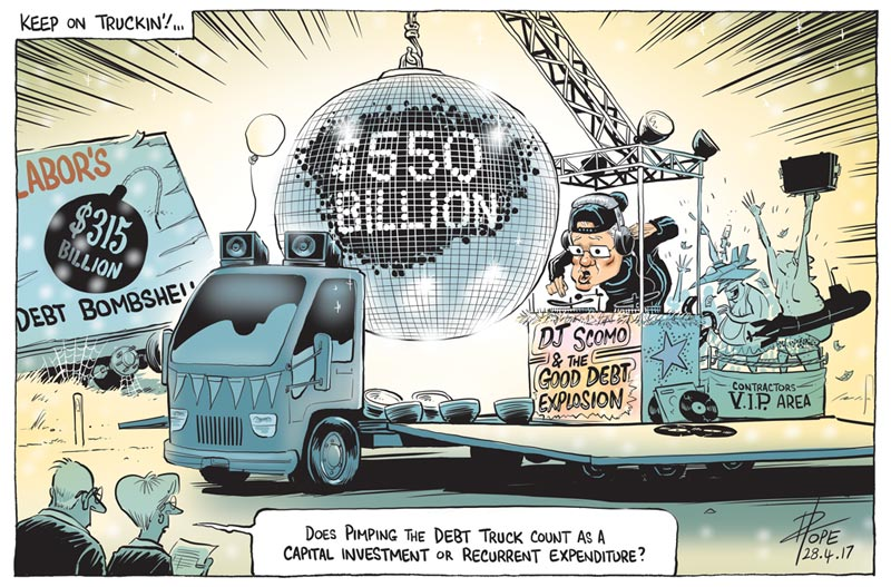Cartoon: the Coalition Debt Truck