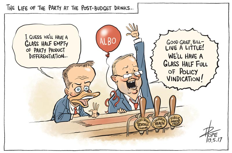Cartoon: Labor's budget reply