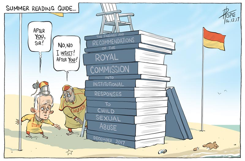 Cartoon: the final report of the Royal Commission into Institutional Responses to Child Sexual Abuse