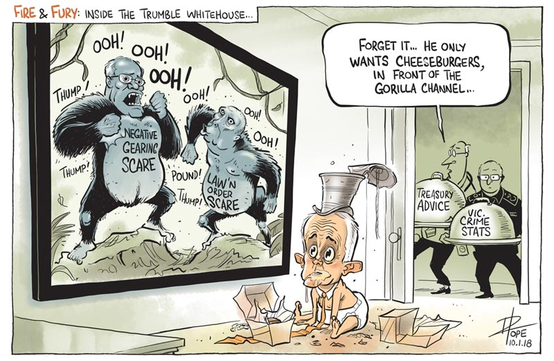 Cartoon: inside the Trumble whitehouse