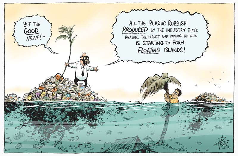 Cartoon: pollution and climate change