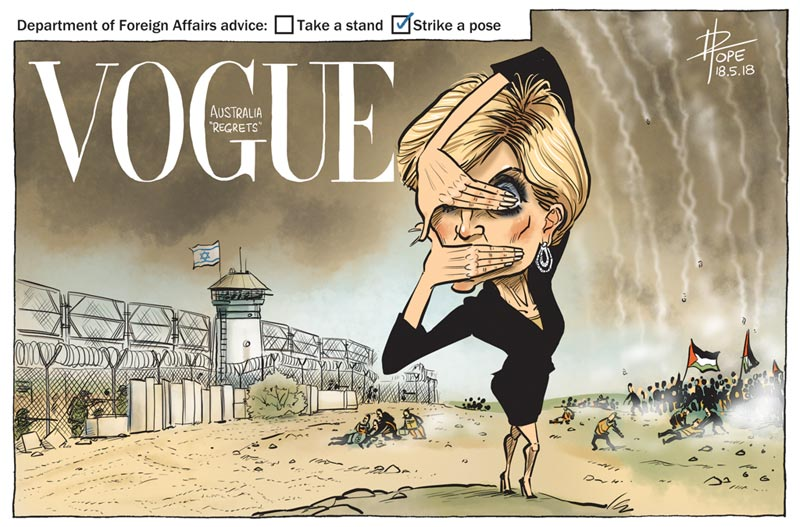 Cartoon: the Australian Foreign Minister responds to the Gaza massacre