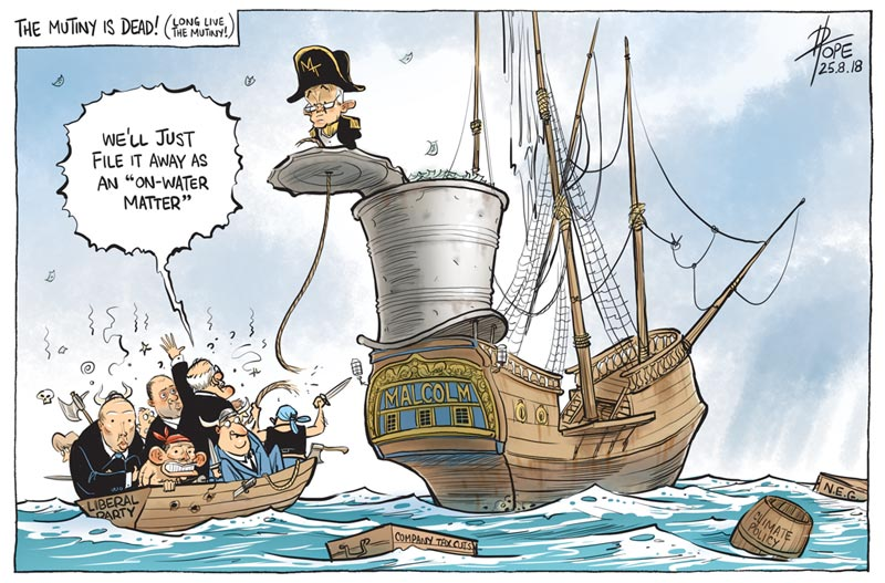 Cartoon, Liberal Party mutiny