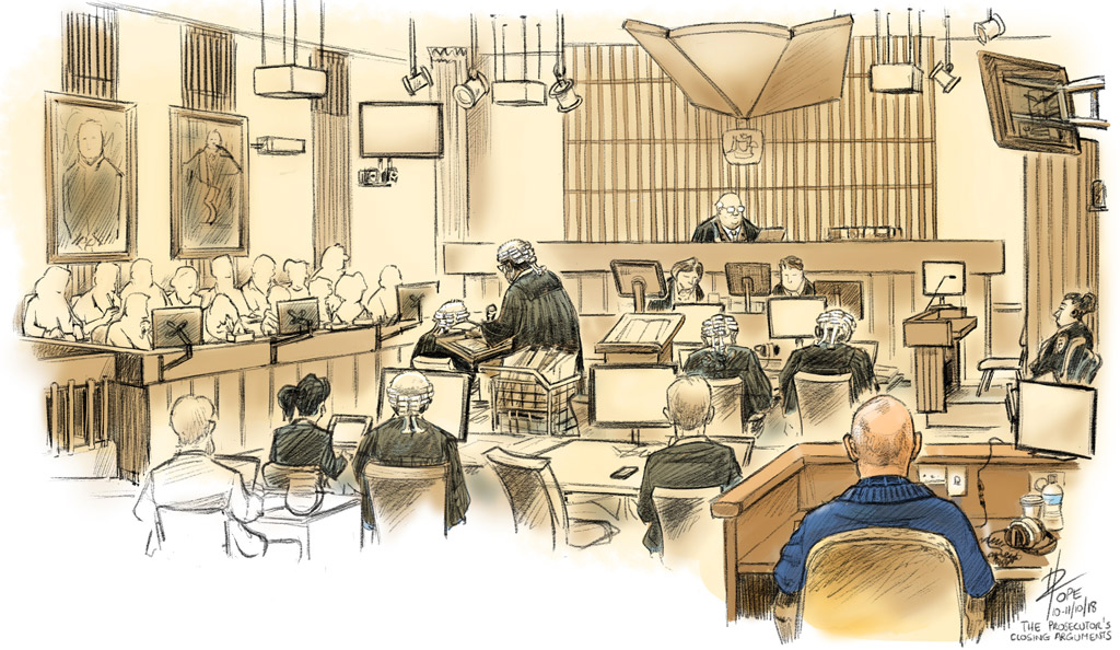 Sketch, the retrial of David Eastman
