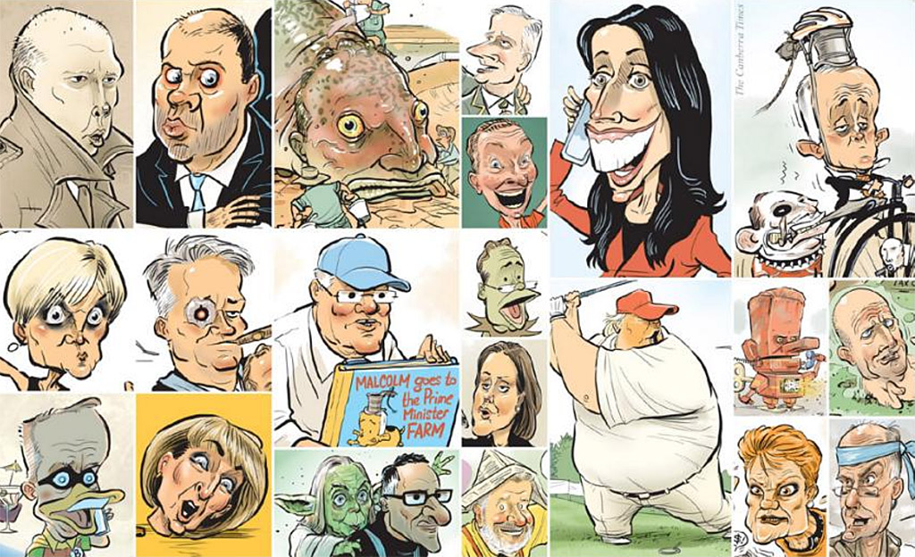 Political caricatures from 2018