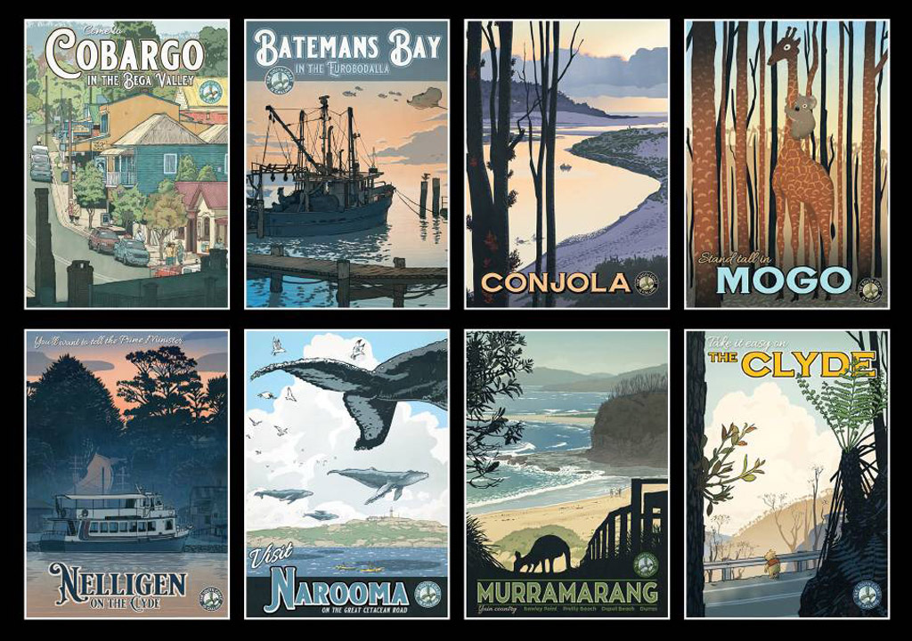 Posters of the NSW South Coast
