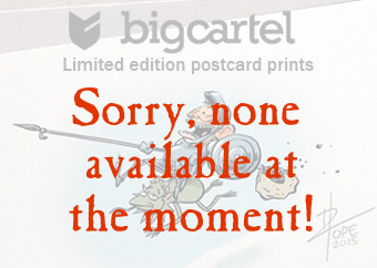 Link to limited edition postcard prints on Big Cartel - currently unavailable, sorry
