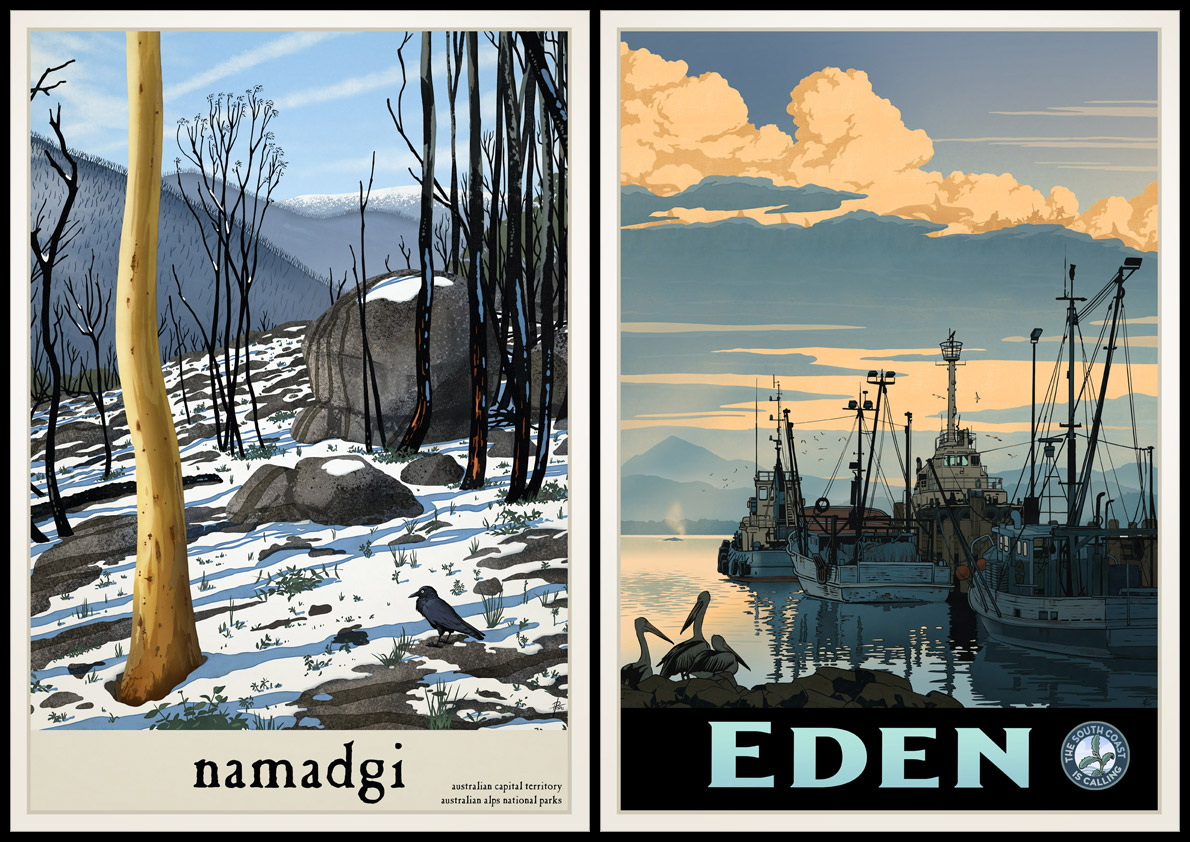 Poster pics of Namadgi and Eden